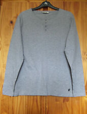 Soulcal & Co. Size S, Long Sleeve Button Neck Cotton Top Grey Marl