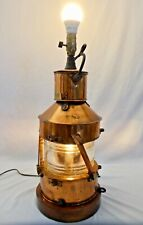 "BEST & LLOYD 23""H Maritime Copper Plated Oil Lantern Created in 1944.Electrified"