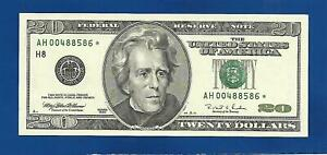 RARE 1996 CHCU $20 STAR NOTE ST. LOUIS DISTRICT ONLY 640000 PRINTED