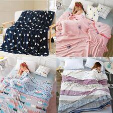 Winter Warm Flannel Throw blanket Sheet Thin Quilt Super Soft Sofa Bedding Hot