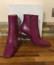 MAISON MARTIN MARGIELA Suspended-Heel Leather Ankle Boots Size UK 7/EU 40 £900