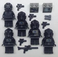 5 LEGO TIE FIGHTER PILOT MINIFIGS LOT figures star wars defender imperial v-wing