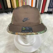 """NIKE REAL TREE AW84 5 PANEL HAT BROWN """"NWT"""" NIKE CAMOUFLAGE HAT"""