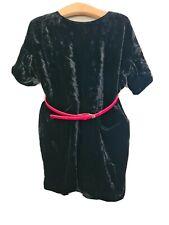 Girls COS Black Velvet Dress 3-4 yrs