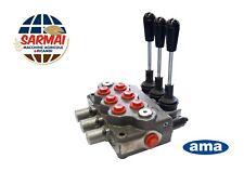 Distributore oleodinamico idraulico 3/8 3 leve doppio effetto 40 litri