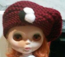 Blythe cute Garnet knitted hat , dress ,  Outfit , doll not enclosed