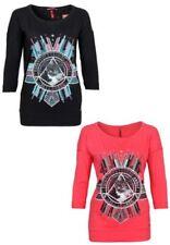 s.Oliver 3/4 Arm Damenblusen, - tops & -shirts mit Rundhals-Ausschnitt