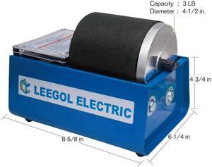 Leegol Electric Hobby Rock Tumbler Machine - Single Drum 3LB Rotary Rock Polishe
