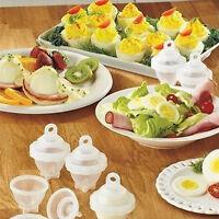New Hard Boil Egg Cooker 6 Eggies with Bonus Egg White Separator Kitchen Supply