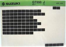 Suzuki GT550 Indy 1972 Parts Microfiche s335