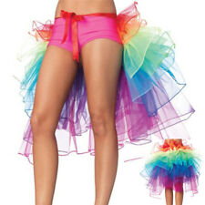 Women's Skirt Dance Long Tail Skirt Lingerie Bubble Skirt Rainbow Color One Size
