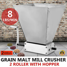 GRAIN MILL HOME BREW MILL BARLEY GRINDER CRUSHING ALUMINUM HOPPER MALT MILL