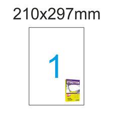 Etiketten10 Blatt A4 Weiß Format Auswahl Luma Universal Vielzweck Aufkleber