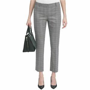Calvin Klein Modern Fit Trousers, Black- Cream  Grey, 4, 6, 14
