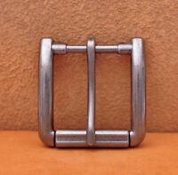 Antiqued Silver Single Prong Replacement Roller Belt Buckle Fits 40mm Belt Strap