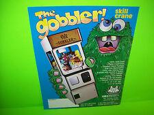 SMS The Gobbler b/w Skill Crane Original Arcade Claw Prize Game Sales Flyer Adv.