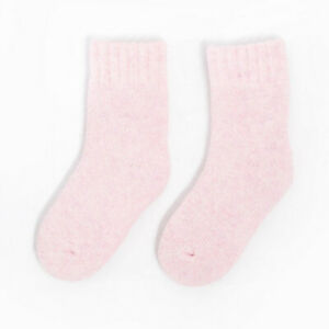 5 Pair Kids Thicken Winter Warm 30% Wool Thermal Casual Socks For Boys Girls