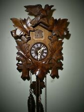 New ListingCuckoo Clock by Lötscher in Switzerland, Bird and Leaves Style, Smaller Style