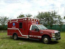 2008 Ford F350 Ambulance Diesel Fl Truck 1 Owner Wheeled Coach Star Of Life Cert