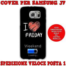 CUSTODIA COVER MORBIDA IN TPU PER SAMSUNG GALAXY J7 (J700) 2015 I LOVE FRIDAY