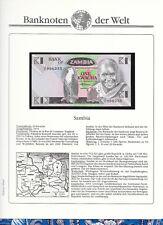 Banknotes of World Zambia 1 Kwatcha 1980 Unc P23b Prefix 76/A