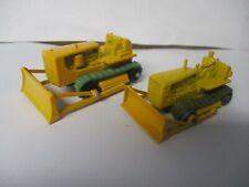 Matchbox Lesney Regular Wheels #18-B & 18-D Caterpillar Bulldozers- no boxes