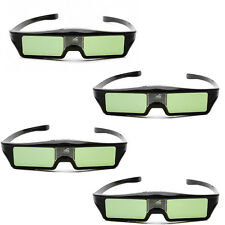 4 x Universal 3D Active Shutter Glasses For Optama Acer BenQ DLP-Link Projector