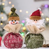 Fj- Natale Babbo Pupazzo di Neve Caramelle Borsa Apple Regalo Coulisse Borsetta