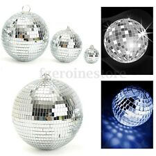 Glitter Lightweight Sliver Mirror Disco Dance Party DJ Ball Mirrored Glass 100mm