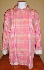 NEW Women's Plus Size 14W XL Plaid Shirt Top Blouse CJ Banks