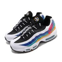 Nike Air Max 95 Premium Windbreaker White Red Gold Women Running Shoe CI1900-123