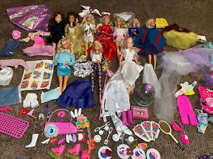 Vintage Barbie Doll Lot 80s, 90s Lot Of 10 Dolls Clothes