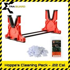 Hoppe's Gun Cleaning Stand Cradle .22 .223 Cal Bore Snake 1000pcs Cotton Patches