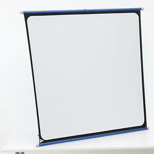 BOOTS SLIDE CINE FILM PROJECTION SCREEN HANGS OR STANDS ON A TABLE, ROLLS UP