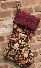 Large Homemade Christmas Stocking Quilted Material