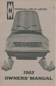 1968 RARE MARSHALL WELLS SNOWMOBILE OWNER'S  MANUAL (388)