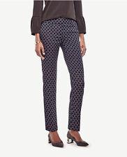 Ann Taylor Size 0 Navy Blue Devin Circle Jacquard Everyday Ankle Pants $98 (55)