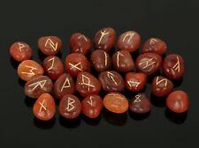 Carleliane Stone Rune Set Symbols Gemstone Healing Crystal Runes 25 Pieces 10 Mm