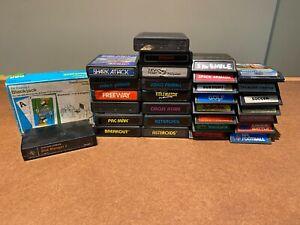 31 Mixed Game Lot - Atari, Intellivision & RCA Studio II Games