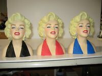Marilyn Monroe 7 Inch Porcelain Head Vase Red,Black or Blue SPECIAL FREE SHIP