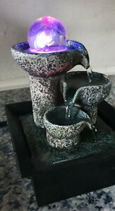 Crystal Ball Cascade Fountain Indoor Water Feature with Multi-coloured Lights