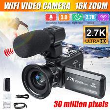Pro Full HD WIFI 30MP 3'' LCD Digital Camcorder Video DV Camera Mic Night Vision