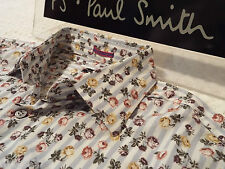 "PAUL SMITH Mens Shirt 🌍 Size 16"" (CHEST 40"") 🌎 RRP £95+ 🌏 FLORAL AND STRIPES"
