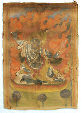 More details for  antique vajrayana buddhist tibetan thangka scroll painting ca. 19th c