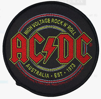 AC/DC - HIGH VOLTAGE ROCK - WOVEN PATCH - BRAND NEW - MUSIC BAND 2820