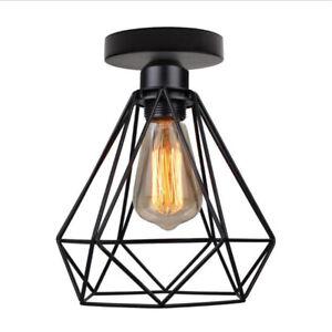 Vintage Industrial Style Ceiling Light Flush mount Retro Metal Pendant Light UK