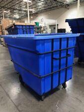 Bayhead Products Blue Heavy Duty 2.2 Cubic Yard Polyethene Tilt Truck