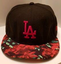 c297d9320fd9e New Era 59FIFTY MLB LA Dodgers Black Floral Baseball Cap. Size 7