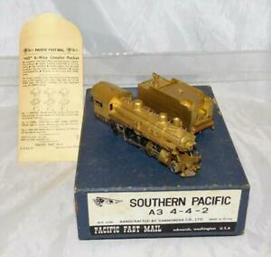 Samhongsa PFE Brass HO 4-4-2 A3 Southern Pacific steam engine Pacific Fast Mail