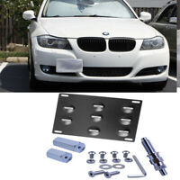 Tow Hook Hole Cover License Plate Bracket Mount Holder For 07-13 BMW E90 E92 M3